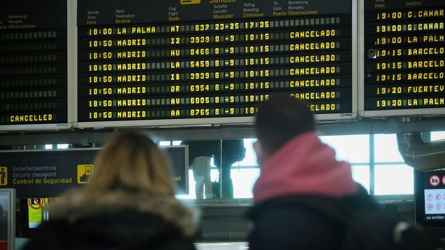 Colas en el Aeropuerto Tenerife Norte