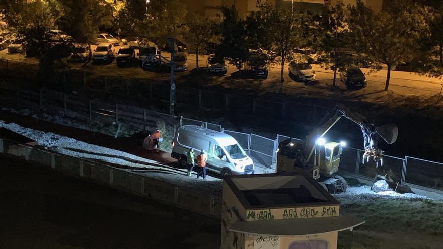 Queixes pel soroll de les obres dels Catalans que es fan durant la nit