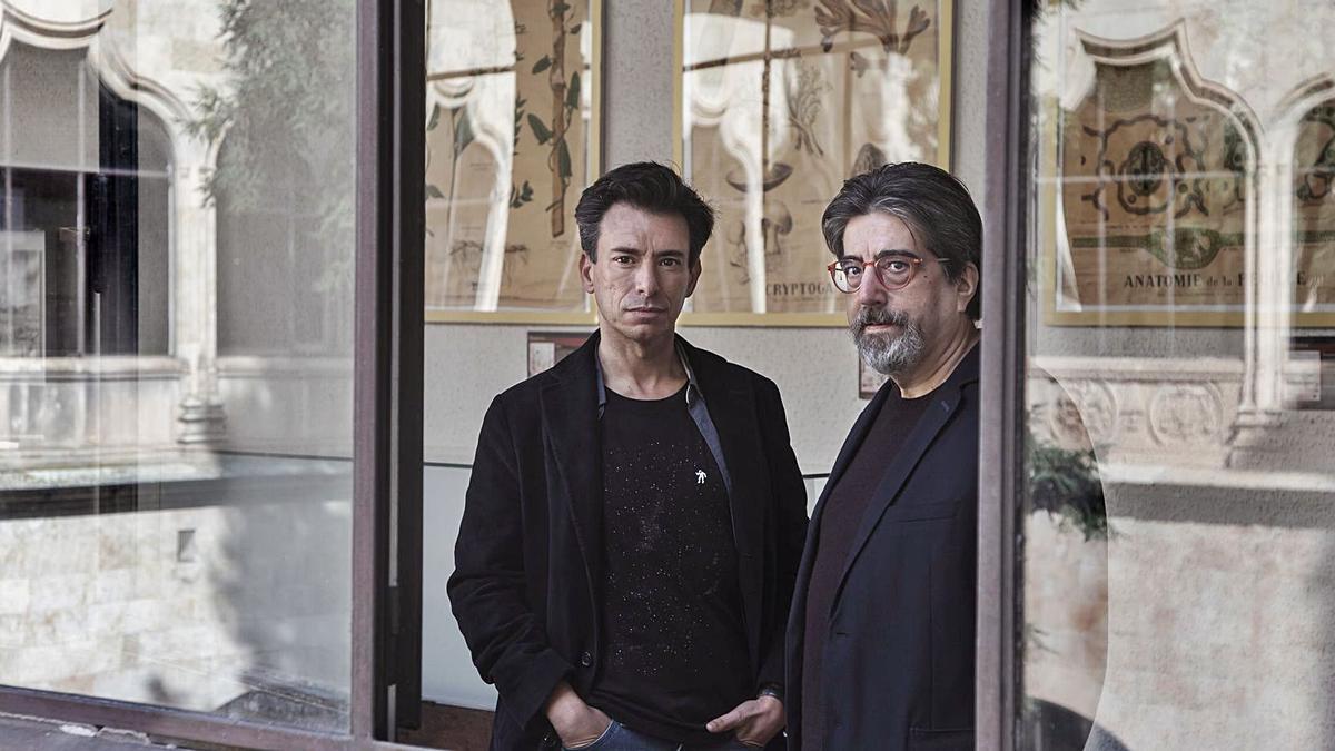 Los autores del libro, el cineasta Menchón y el zamorano García Jambrina.