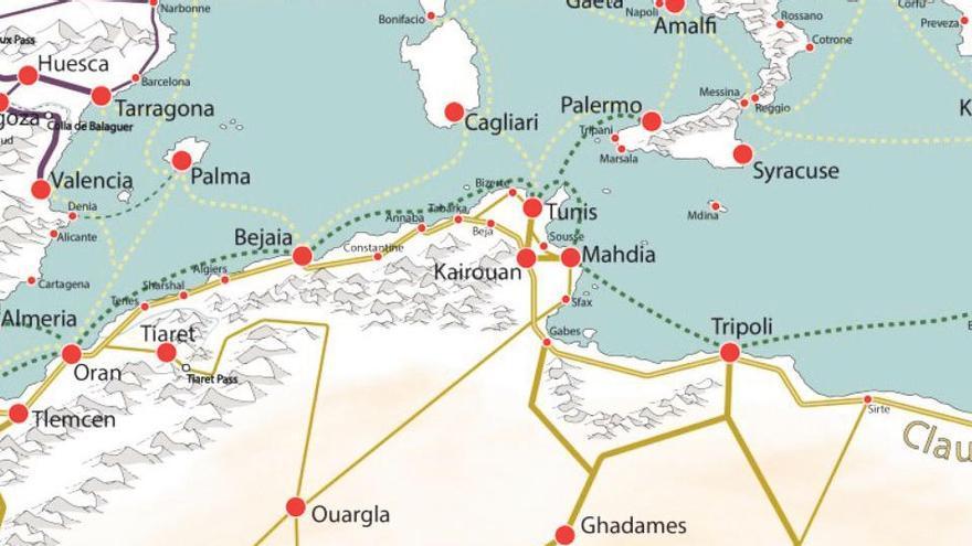 La provincia en el gran mapa de la Edad Media