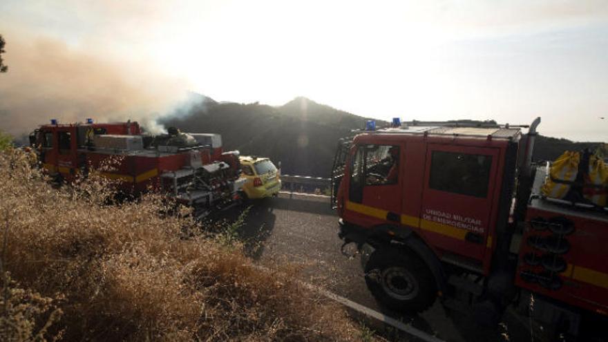 Movilizada la UME para combatir el incendio forestal en Gran Canaria