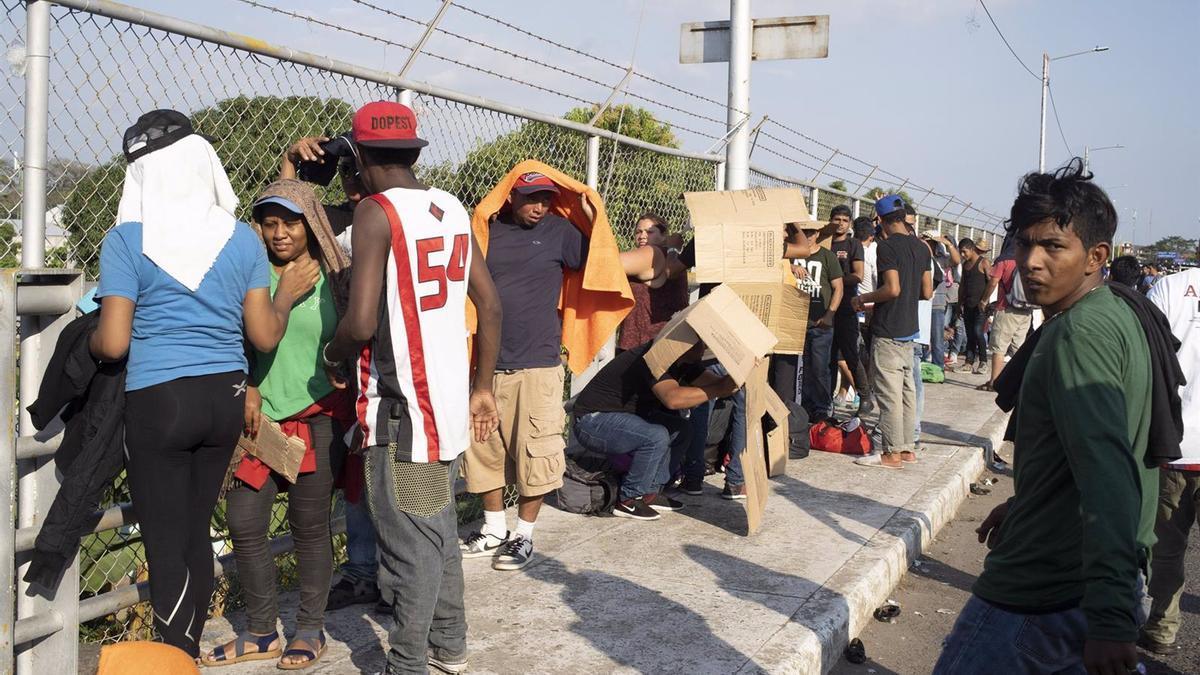 Migrantes centroamericanos.