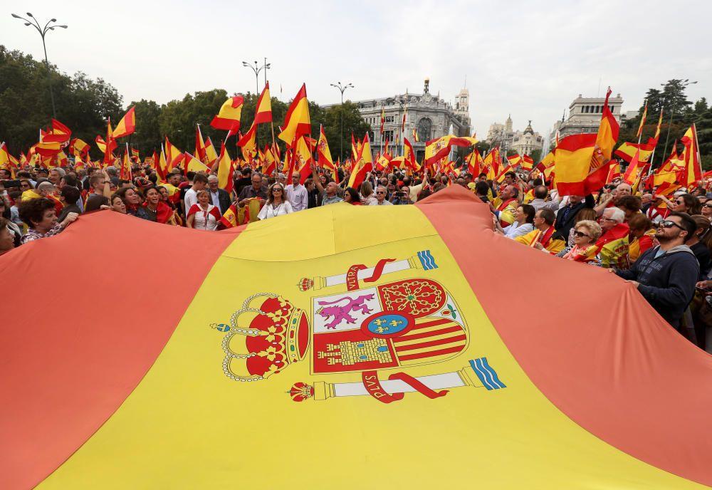 Manifestación en contra del referéndum