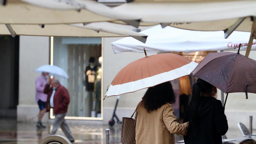 Alerta amarilla en Málaga por fuertes lluvias y tormentas