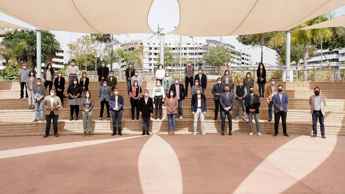 Foto de familia de los participantes en un acto de Ciudadanos en Málaga