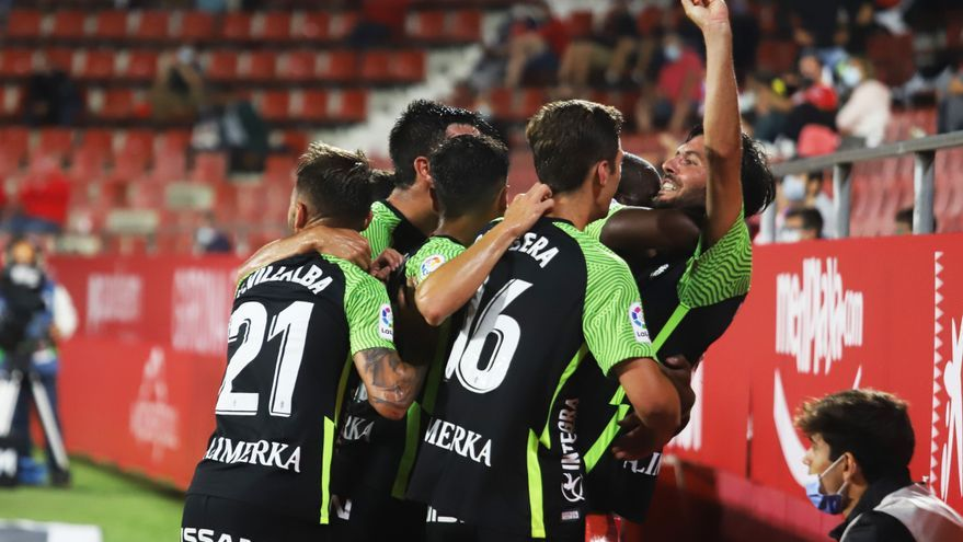 El Sporting vence al Girona con goles de Gaspar y Marc Valiente