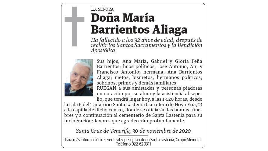 María Barrientos Aliaga