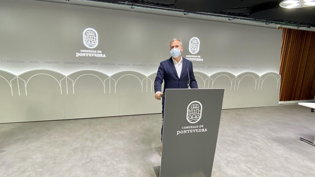 El portavoz del PP de Pontevedra, Rafael Domínguez