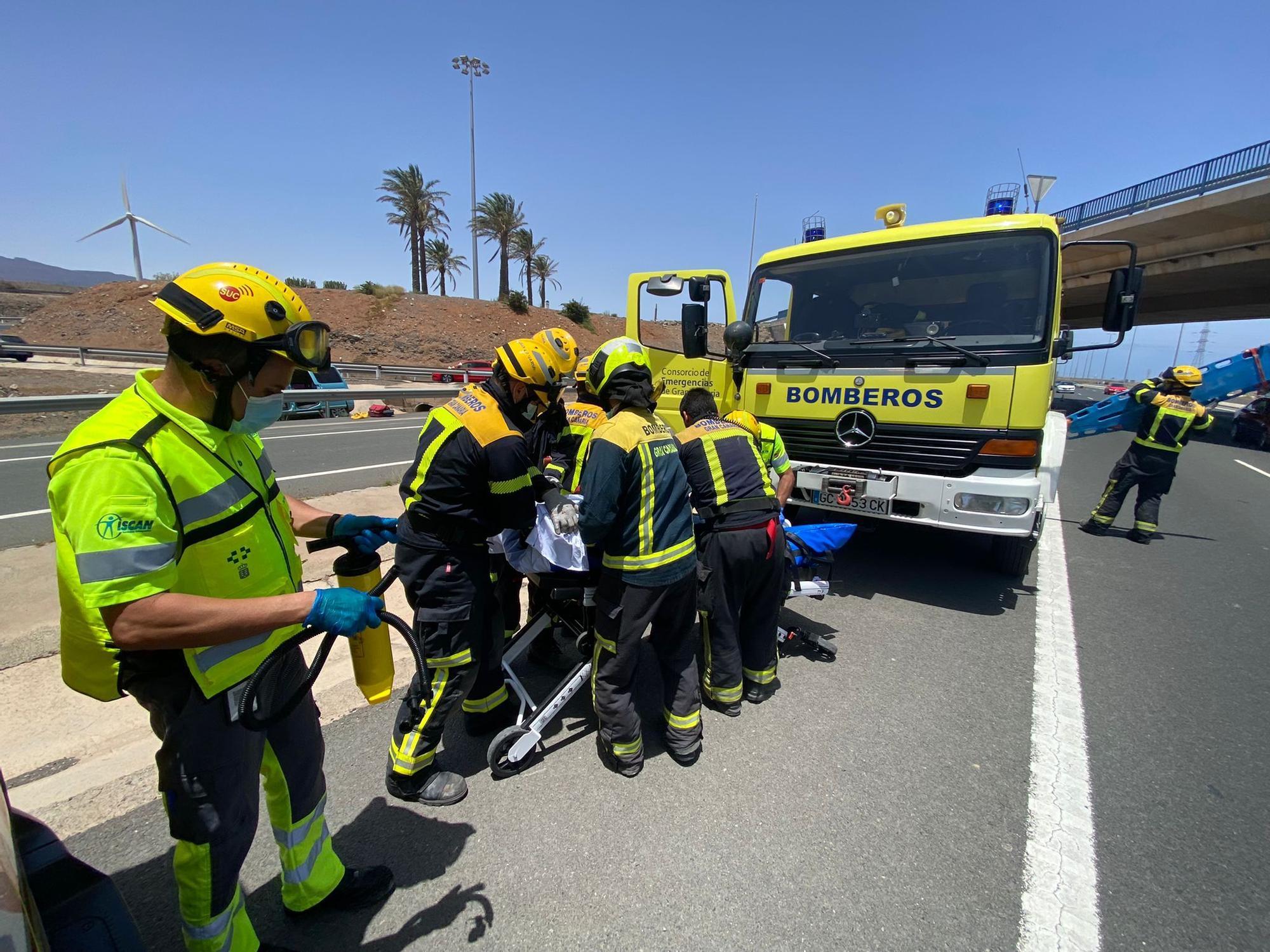 Accidente de tráfico en la GC-1