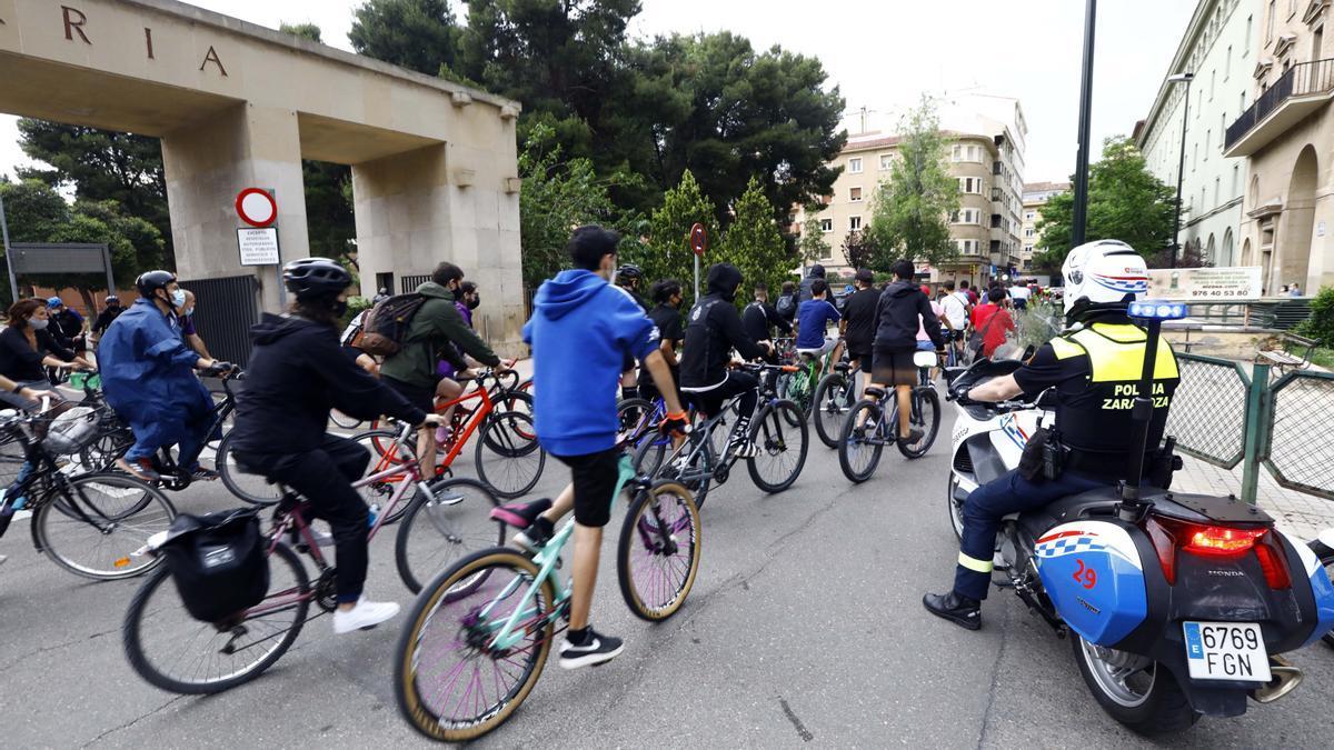 Una imagen de la marcha del día de la bicicleta, la semana pasada.