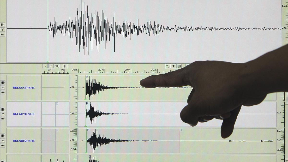 Un sismógrafo.