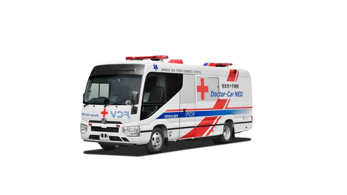 Toyota and Red Cross create the first mobile clinic powered by hydrogen fuel cell