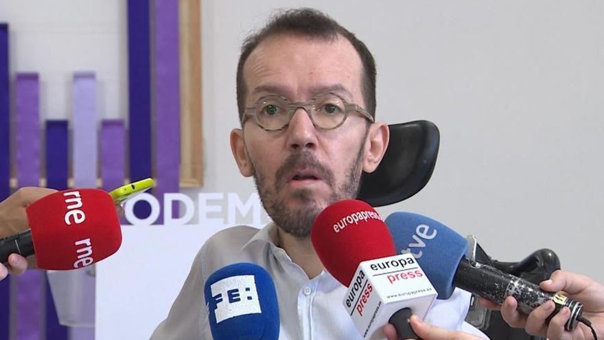 "Echenique tacha de ""gilipollez"" destacar que él es apoderado de la cuenta de Podemos"