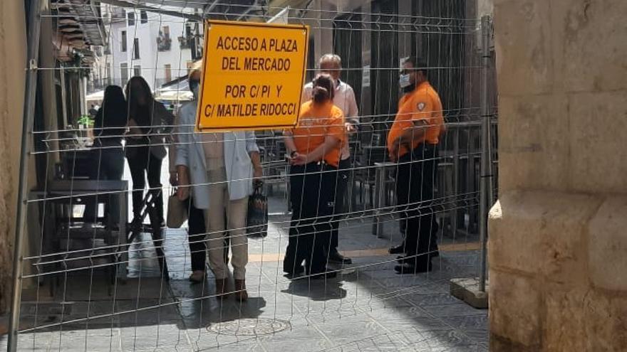 Xàtiva mantendrá el perímetro del Mercat y los hosteleros proponen reestructurarlo