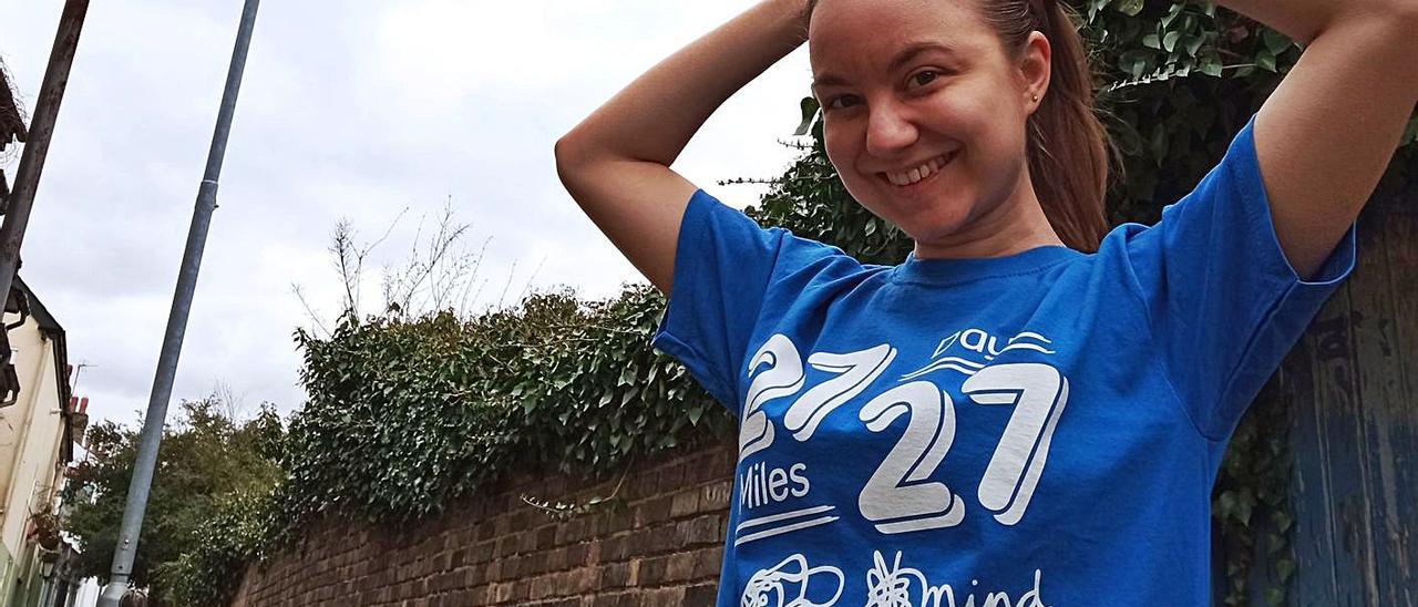 Una ontinyentina corre 27 millas por la salud mental de los jóvenes