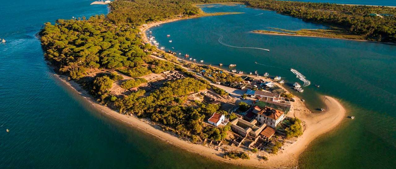 Foto aérea península de Troia