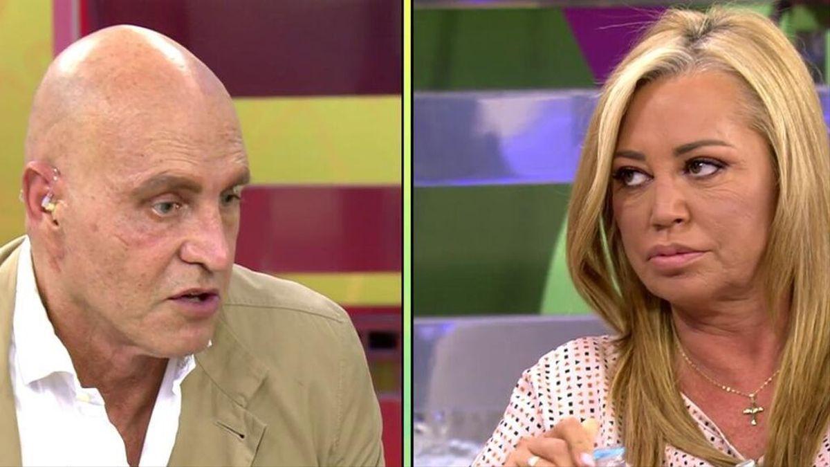 Kiko Matamoros y Belén Esteban se enfrentan en 'Sálvame'.