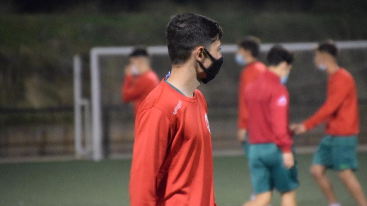 Los juveniles del Zamora CF en un entrenamiento