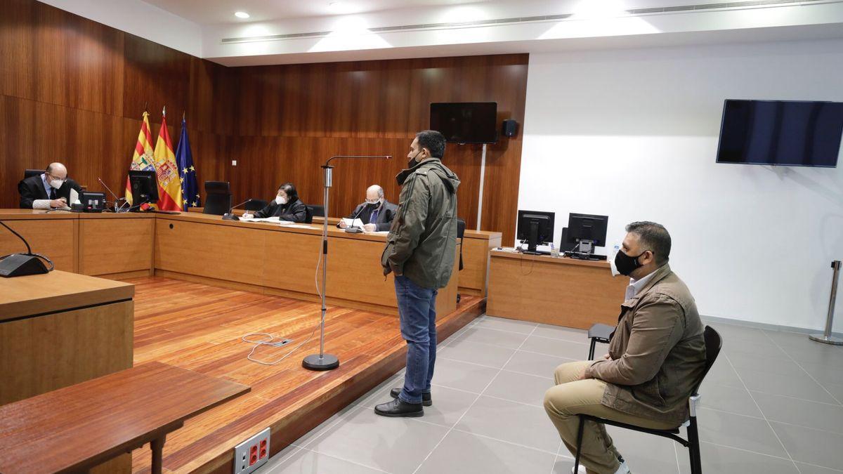Los acusados, durante el acto de la vista oral.
