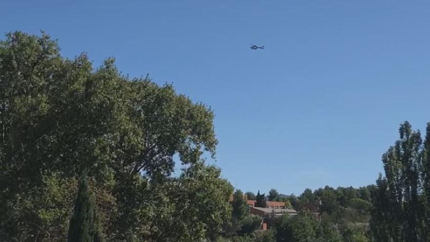 Un helicóptero participa en la búsqueda de la mujer desaparecida en Requena