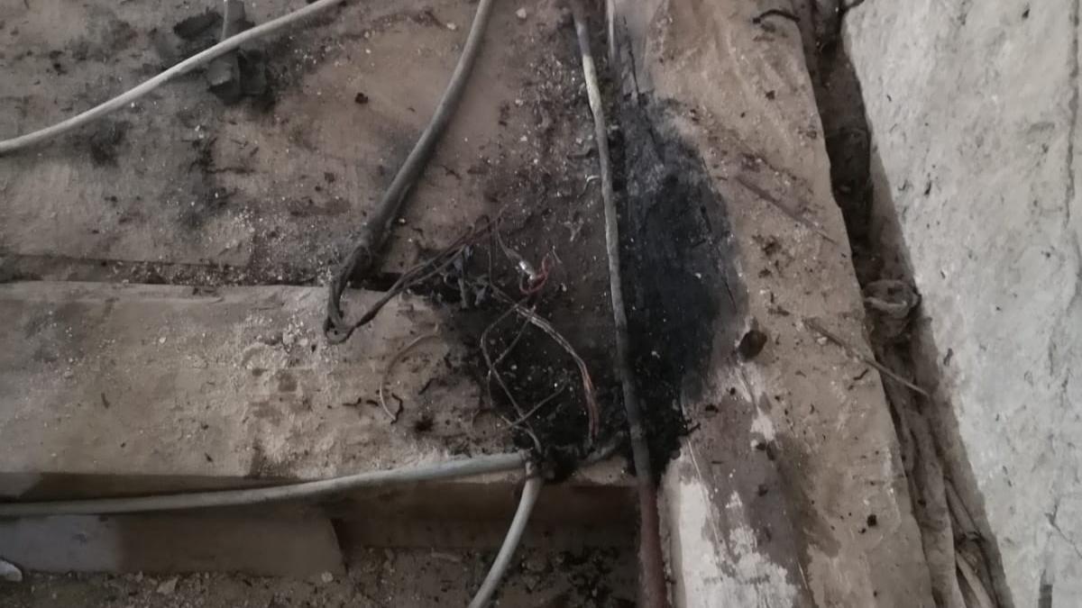 Cables quemados en La Colegiata de Toro.