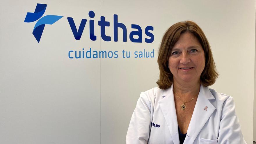 Doctora Elena Pastor, responsable de la Unidad de Mama de los hospitales Vithas en Alicante.