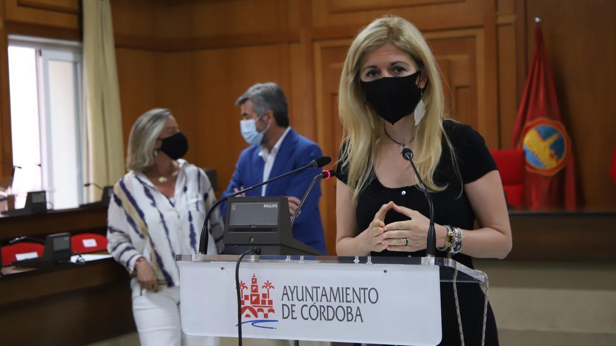 La concejala Lourdes Morales, tras la junta de gobierno local.