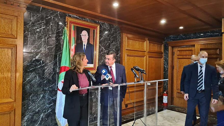 Argelia garantiza ante Ribera su compromiso de suministro de gas a España