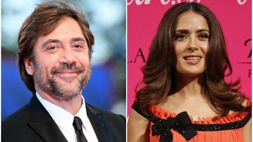 Javier Bardem y Salma Hayek, listos para rodar en España una película de Sally Potter