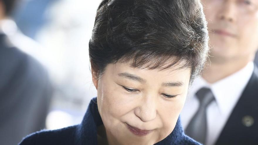 La expresidenta de Corea del Sur comparece ante la Fiscalía