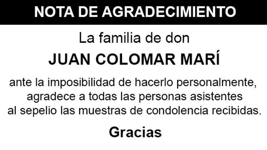 Nota Juan Colomar Marí