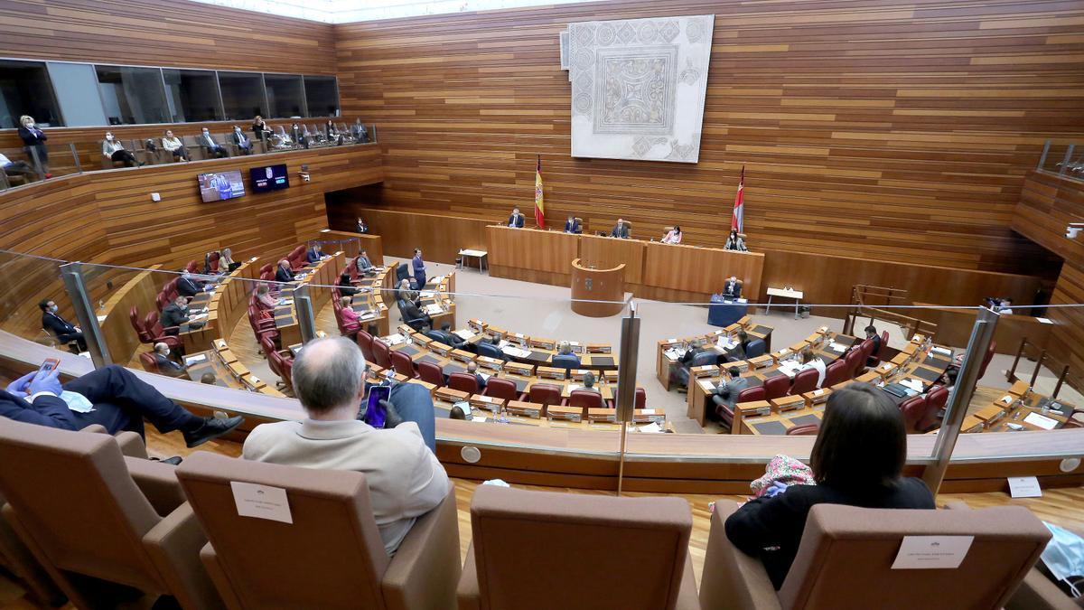 Sesión plenaria en las Cortes de Castilla y León.