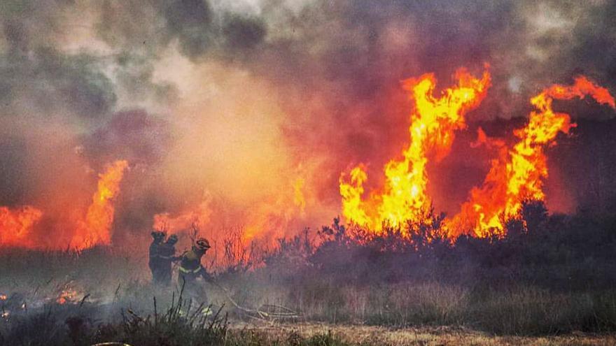 La Xunta gastó 134.000 euros en atajar el primer gran incendio de la temporada