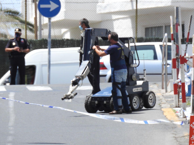 Protocolo de seguridad: objeto sospechoso en la Comisaría de Maspalomas