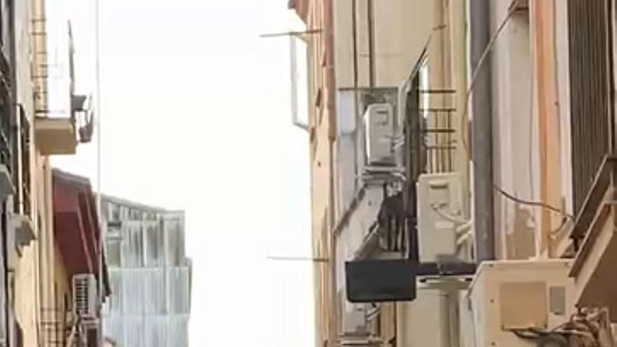 La calle Patalón, en Plasencia en Nochebuena