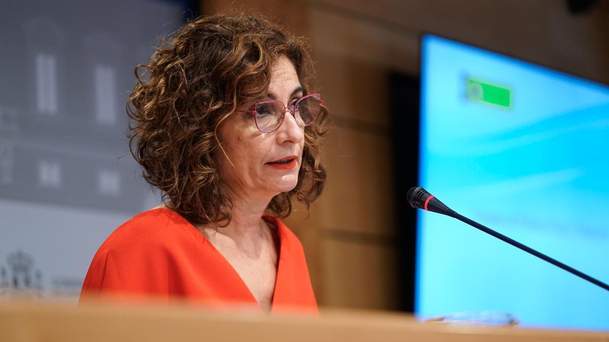 La ministra de Hacienda y Función Pública, Maria Jesús Montero, después del Consejo de Política Fiscal y Financiera.