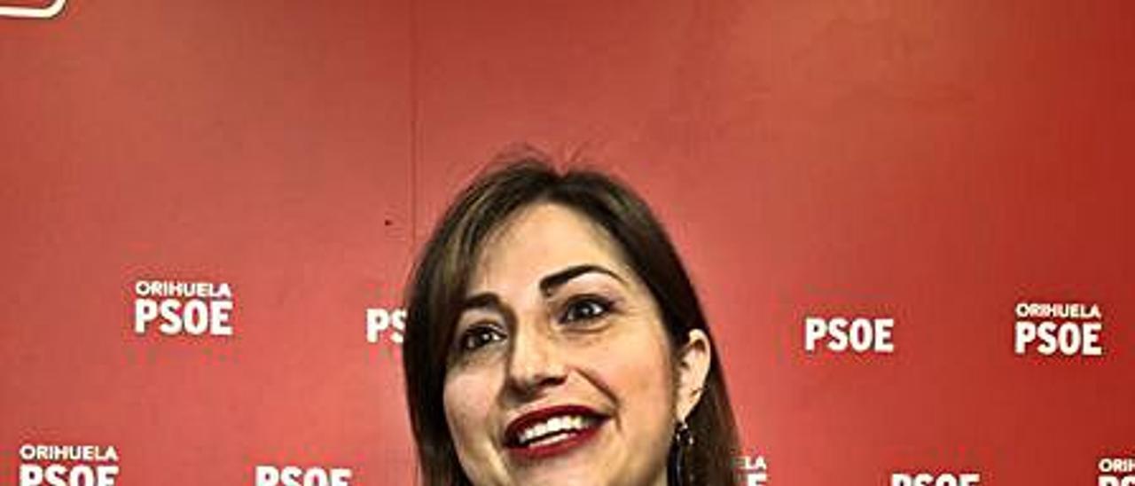 La edil del PSOE María García.