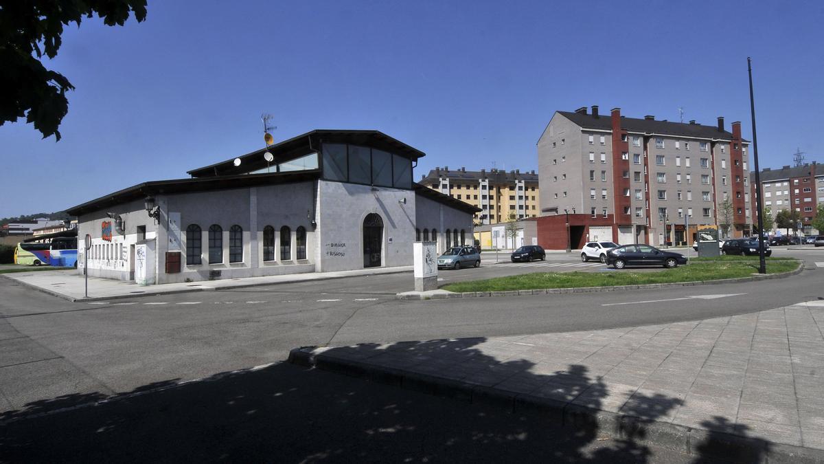 La estación de autobuses de La Felguera.