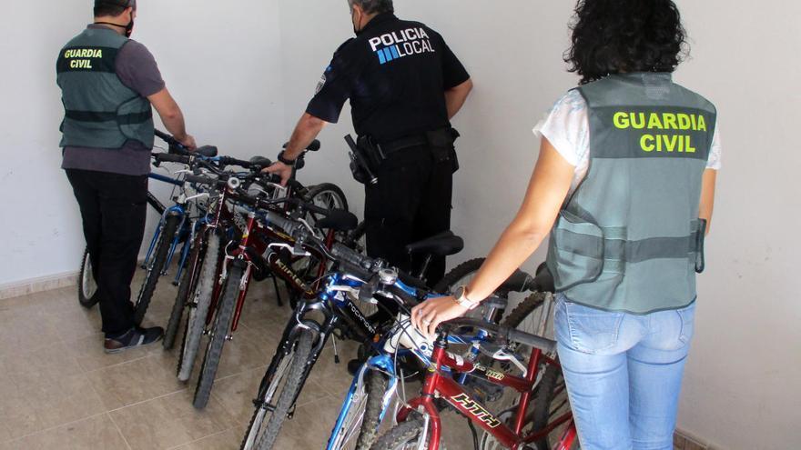 Cae un grupo criminal que robó una treintena de bicicletas en San Javier