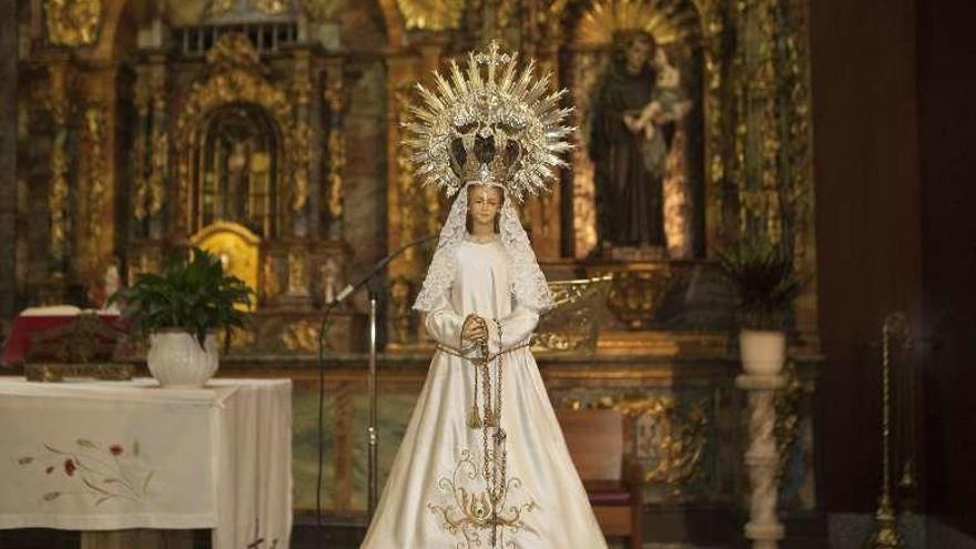 """El Carbayu impulsará que la Virgen sea imagen """"histórica"""" y vuelva al Consistorio"""