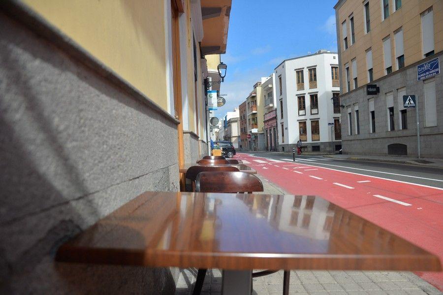 Bares y cafeterías en Vegueta afrontan la pérdida de clientela