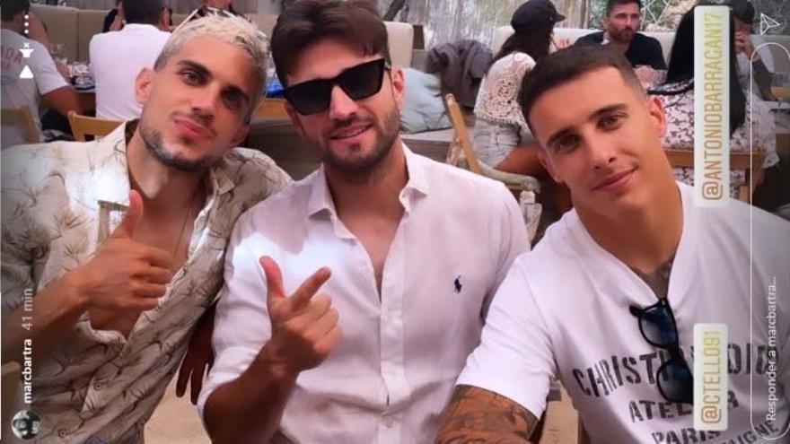 Futbolistas en Ibiza