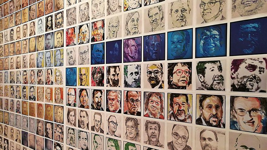 Quim Moya clou amb mil caricatures el projecte d'un retrat diari dels presos