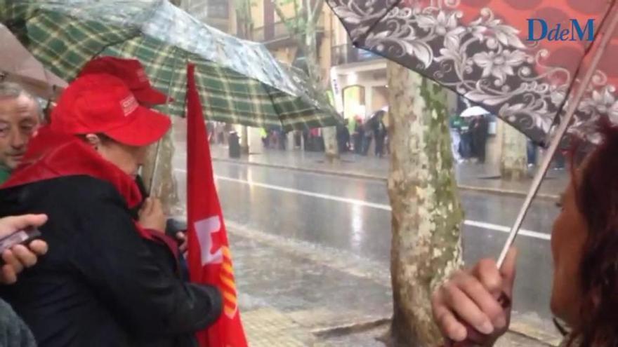 Verhagelte Mai-Kundgebung auf Mallorca