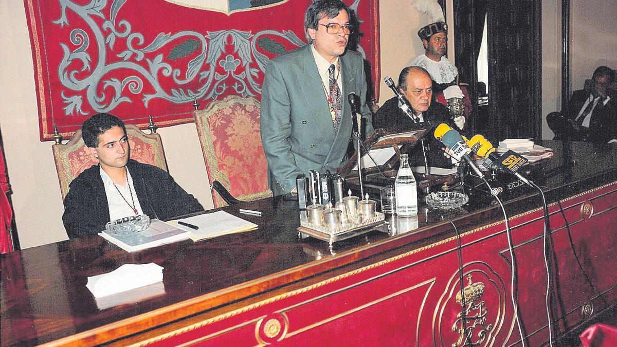 Andrés Luis Calvo, en su primera intervención como alcalde de Zamora.