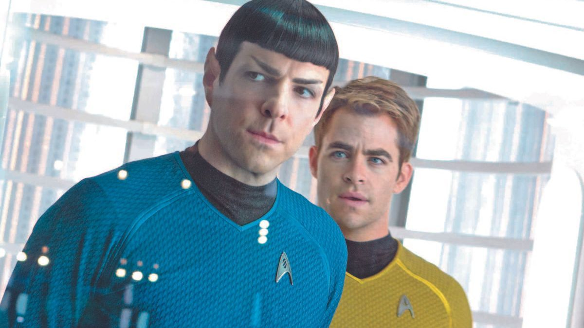 Chris Pine y Zachary Quinto en 'Star Trek Into Darkness' (2013)
