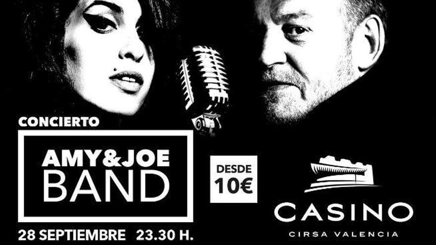 AMY&Joe: tributo a Amy Winehouse y Joe Cocker en Casino Cirsa Valencia