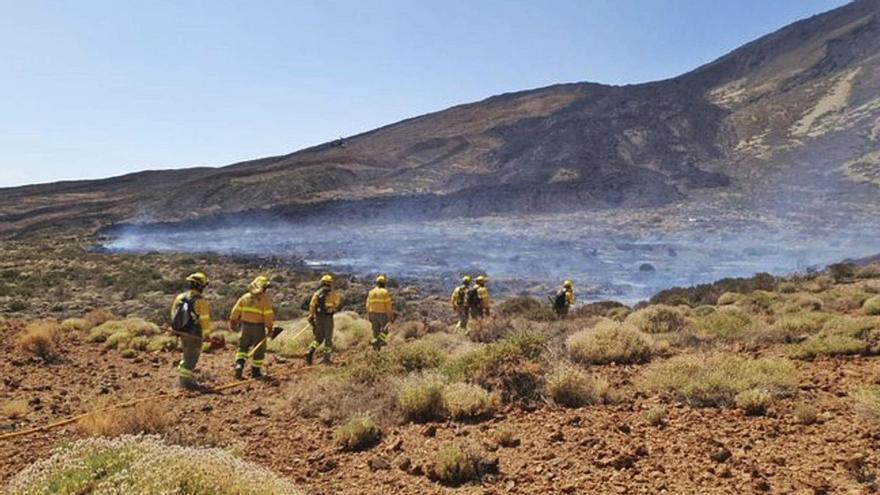 Controlado el conato de incendio forestal en Icod de los Vinos