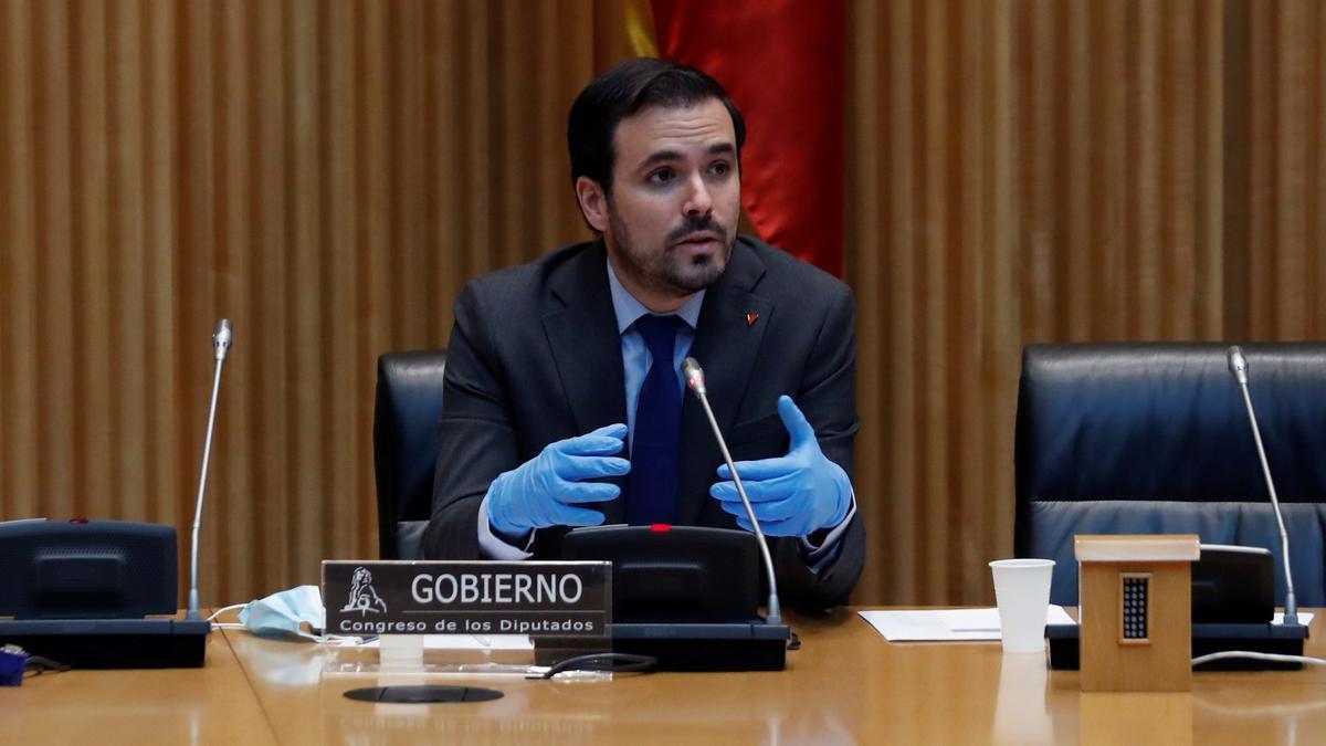 El ministro de Consumo. Alberto Garzón.