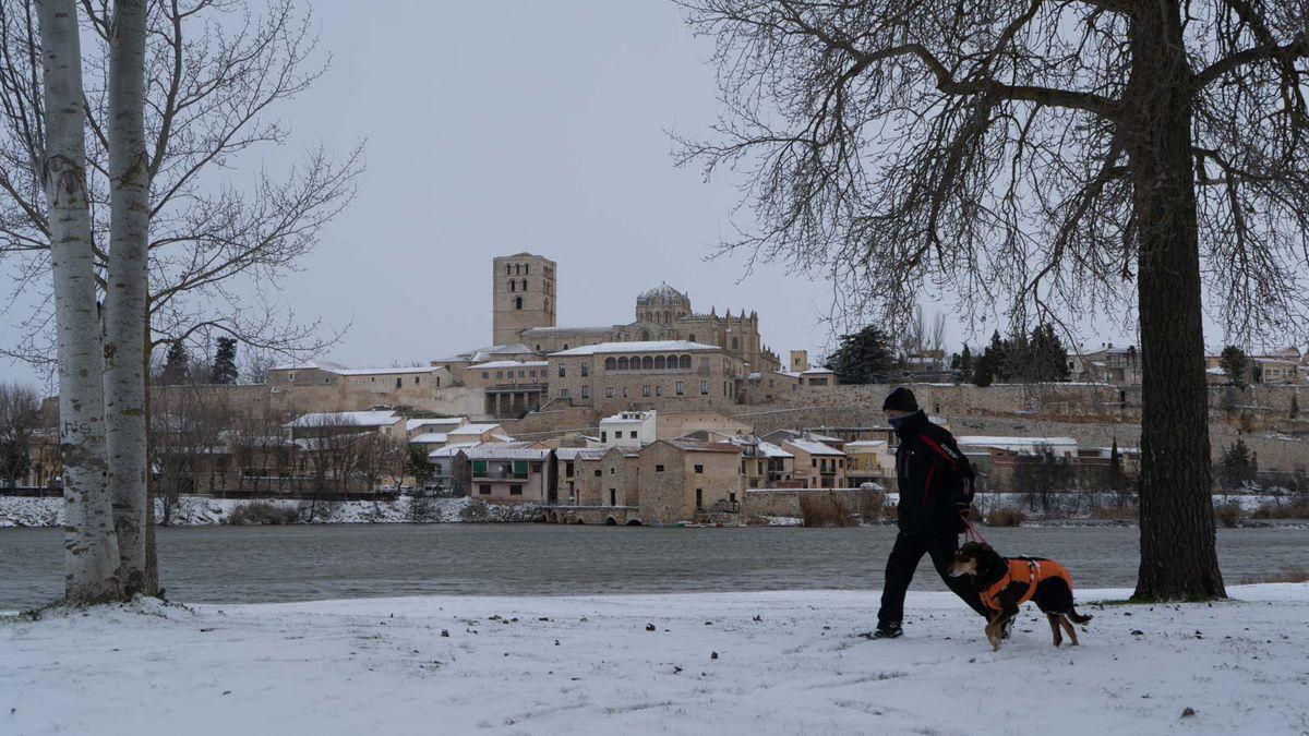 Nieve en Zamora por la borrasca Filomena.